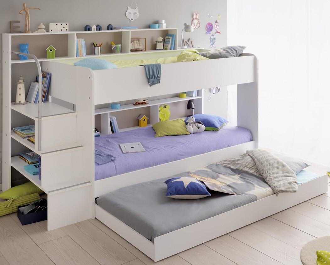 etagenbett hochbett twin 21 mit bettkasten wei 245x171x114cm doppelstockbett ebay. Black Bedroom Furniture Sets. Home Design Ideas
