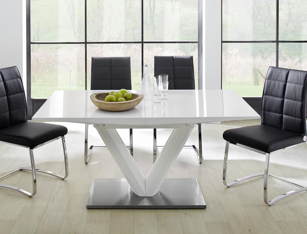 esstisch ausziehbar hochglanz weiss s ulentisch 160 220 x90cm eckbanktisch vasco ebay. Black Bedroom Furniture Sets. Home Design Ideas