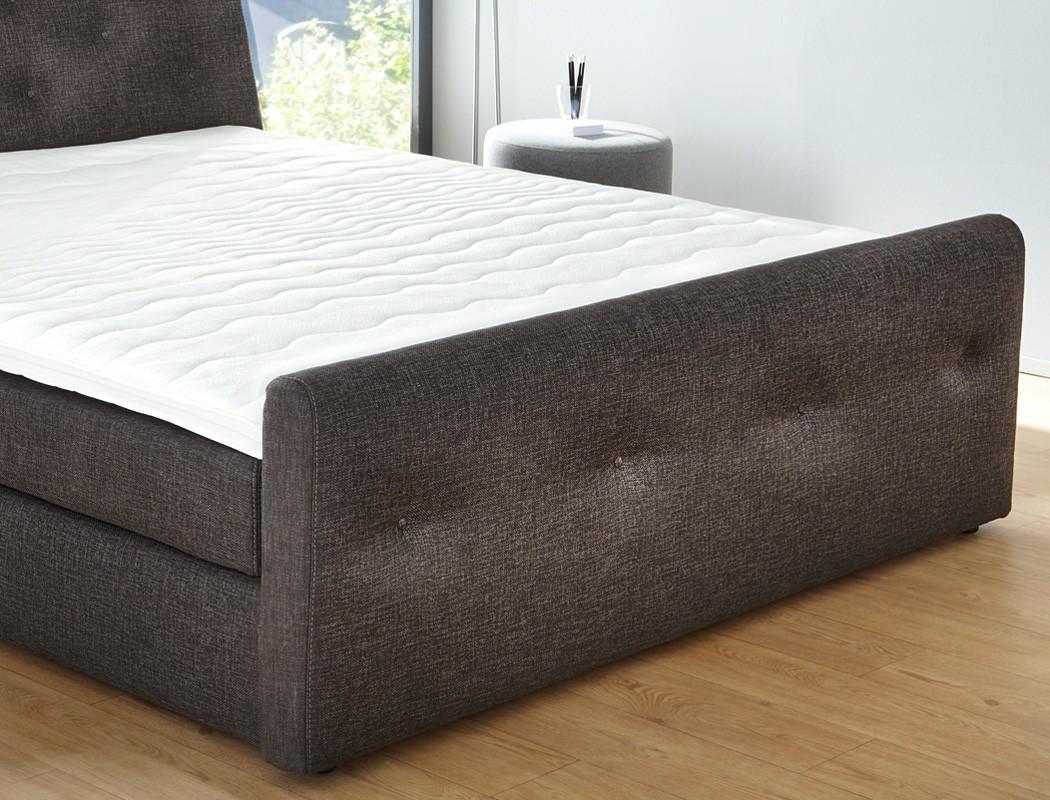 boxspringbett 180x200 cm braun doppelbett hotelbett komfortbett bett bernardo ebay. Black Bedroom Furniture Sets. Home Design Ideas