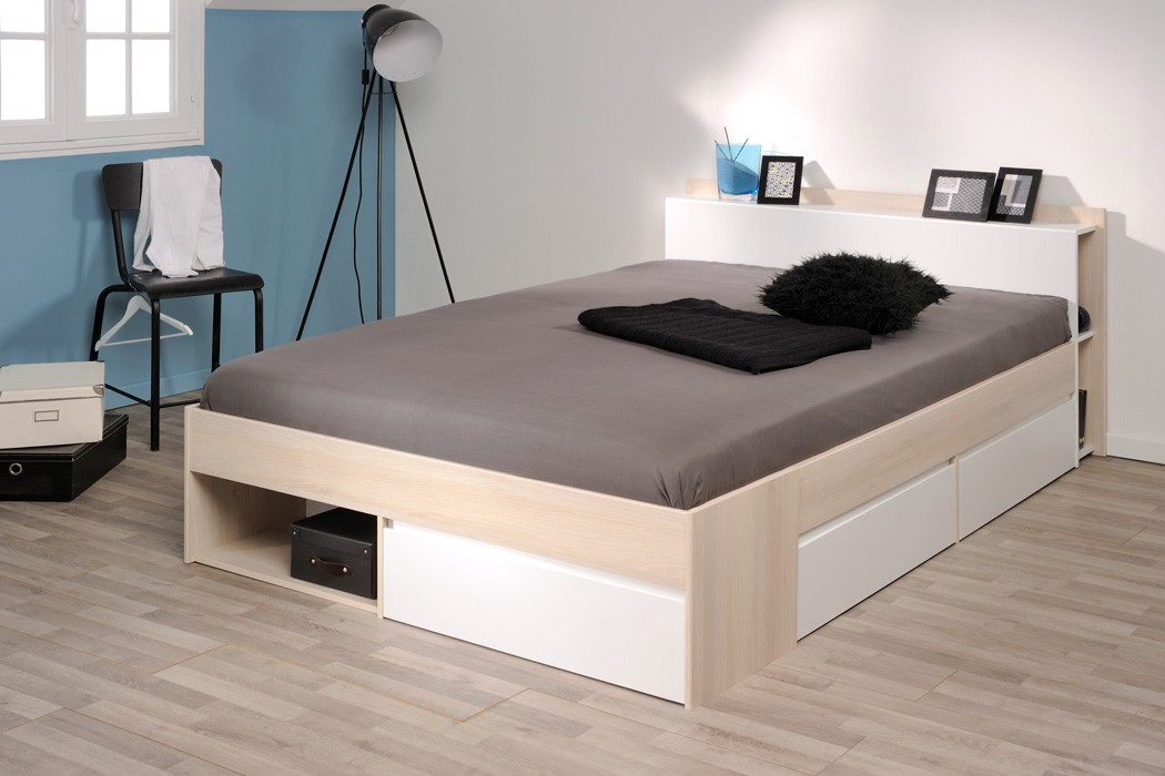 jugendbett bett 140x200 akazie nb singlebett g stebett jugendzimmer morris 5 ebay. Black Bedroom Furniture Sets. Home Design Ideas