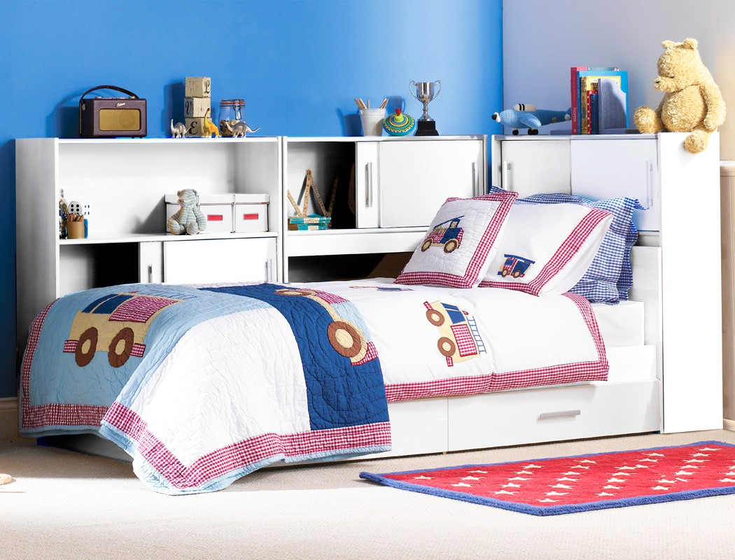 kinderzimmer wei bett 90x200 3x regal 2x bettkasten jugendzimmer snapp 2 ebay. Black Bedroom Furniture Sets. Home Design Ideas