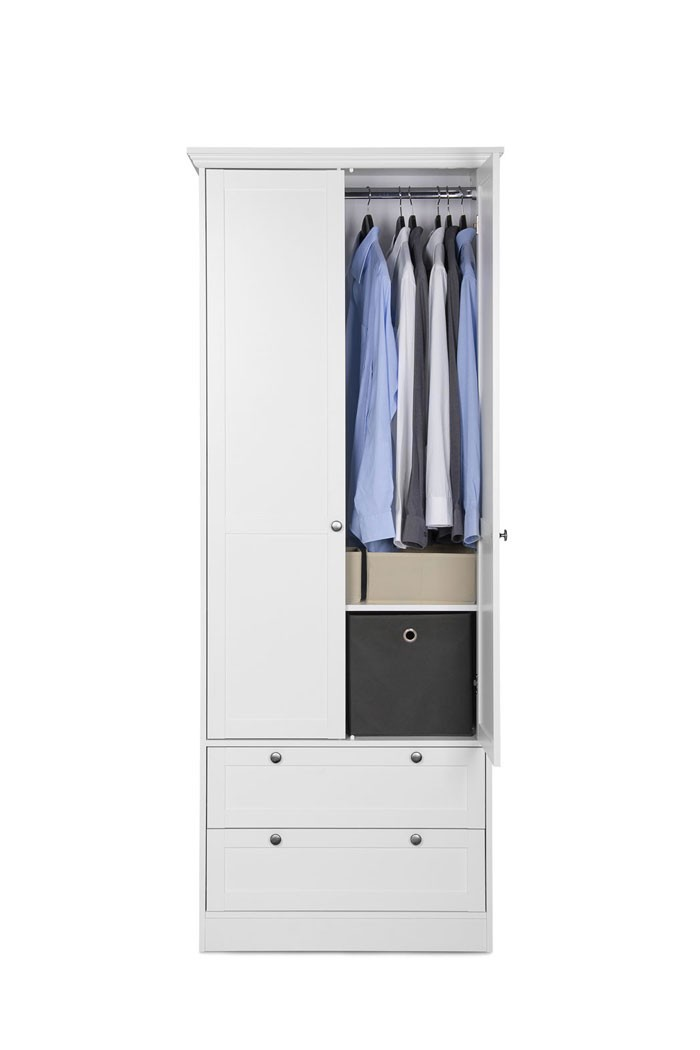 kleiderschrank wei 80x200x51 cm schrank dreht renschrank landstr m 14 ebay. Black Bedroom Furniture Sets. Home Design Ideas