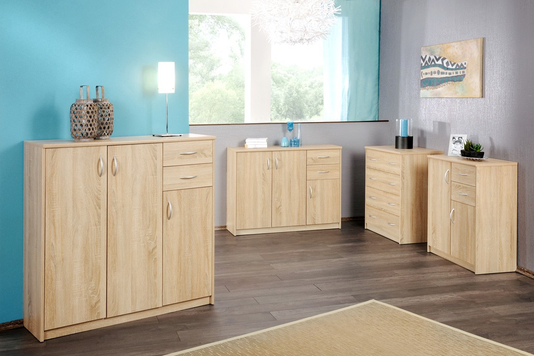 sideboard eiche sonoma modell nach wahl highboard. Black Bedroom Furniture Sets. Home Design Ideas