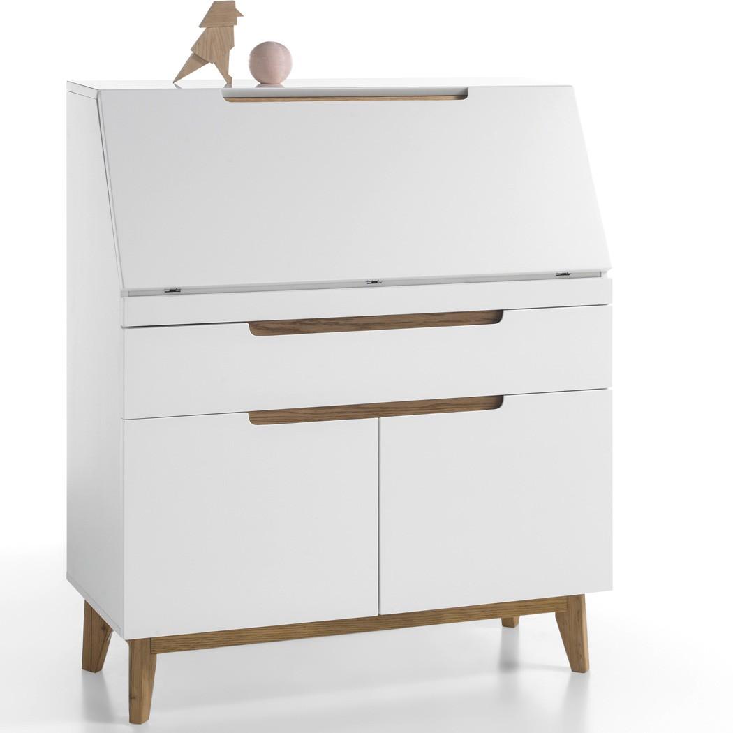 sekret r wei eiche 97x113x40 cm schreibtisch arbeitszimmer wohnzimmer celio 10 ebay. Black Bedroom Furniture Sets. Home Design Ideas