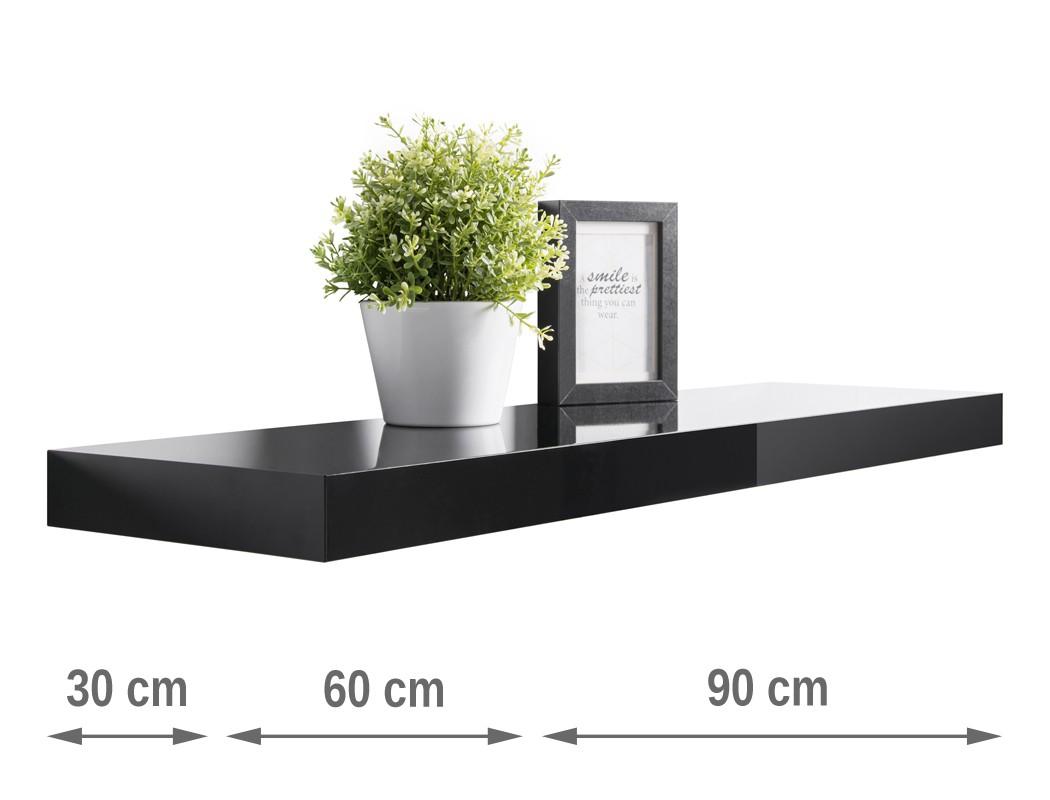 wandboard hochglanz 30cm 60cm 90cm farbauswahl wandregal b cherregal regal ted ebay. Black Bedroom Furniture Sets. Home Design Ideas