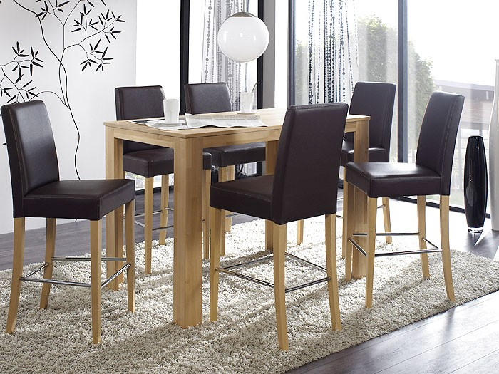 tresentisch arvada xl 125x80x96cm buche lackiert holztisch bartisch tisch massiv ebay. Black Bedroom Furniture Sets. Home Design Ideas
