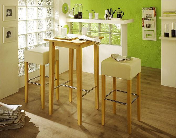 Bartisch leno 75x75x105cm buche kolonial lackiert tisch for Bistrotisch buche