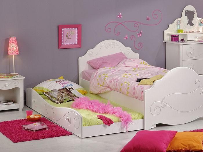 kinderbett anne 3 weiss lackiert 90x200 nachttisch. Black Bedroom Furniture Sets. Home Design Ideas