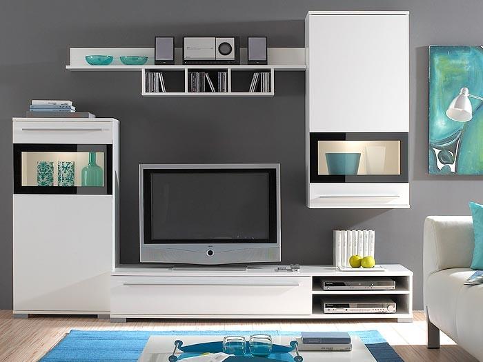 Wohnzimmermbel Modern Creme Wohnzimmer Hochglanz Schrankwand Hlsta Moderne