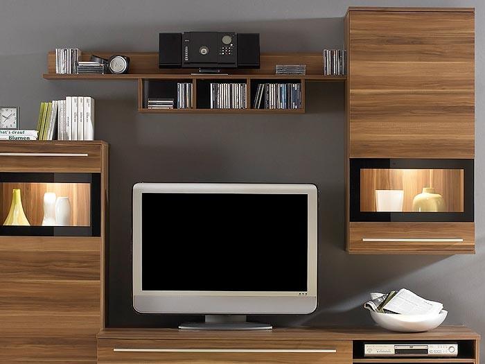 wohnwand schrankwand nussbaum 235x174x47 anbauwand. Black Bedroom Furniture Sets. Home Design Ideas