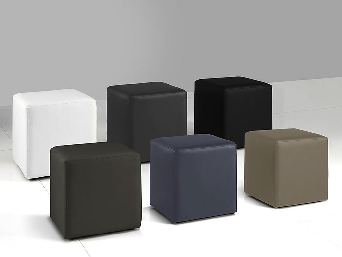 polsterhocker kubus 40x45x40cm kunstleder w rfel hocker. Black Bedroom Furniture Sets. Home Design Ideas