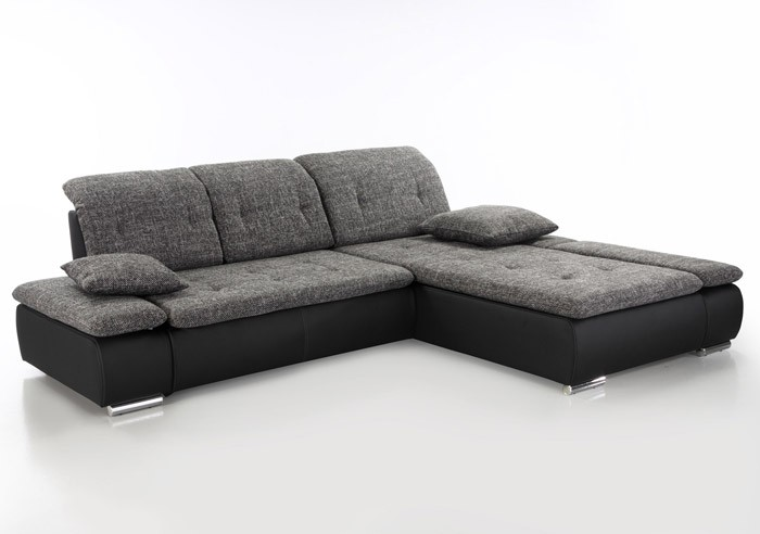 sofa couch amelie 297x215cm anthrazit schwarz wohnlandschaft kunstleder ebay. Black Bedroom Furniture Sets. Home Design Ideas