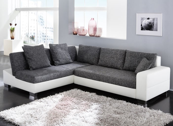 ecksofa isola 285x209cm anthrazit wei sofa couch. Black Bedroom Furniture Sets. Home Design Ideas