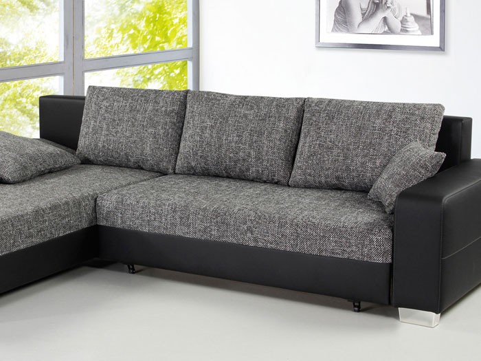 sofa couch isola 285x209cm anthrazit schwarz schlafsofa wohnlandschaft eckcouch. Black Bedroom Furniture Sets. Home Design Ideas