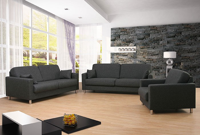 sofagarnitur 3 2 1 sitzer bitonto stoff pg 2 sofa couchgarnitur sessel couch ebay. Black Bedroom Furniture Sets. Home Design Ideas