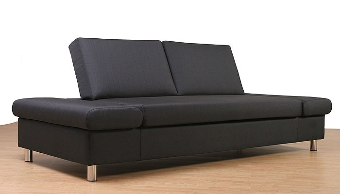 210x90cm stoff pg 1 schlafliege polstersofa sofa bett liege ebay. Black Bedroom Furniture Sets. Home Design Ideas