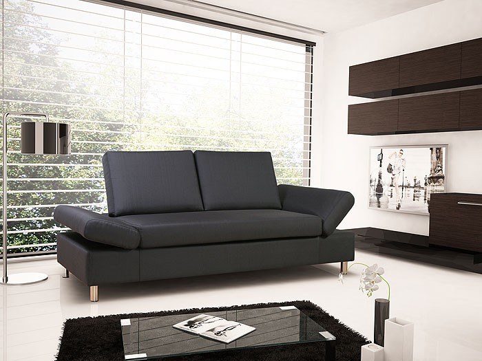 schlafsofa brindisi 210x90cm kunstleder schlafcouch couch liege bettsofa bett ebay. Black Bedroom Furniture Sets. Home Design Ideas