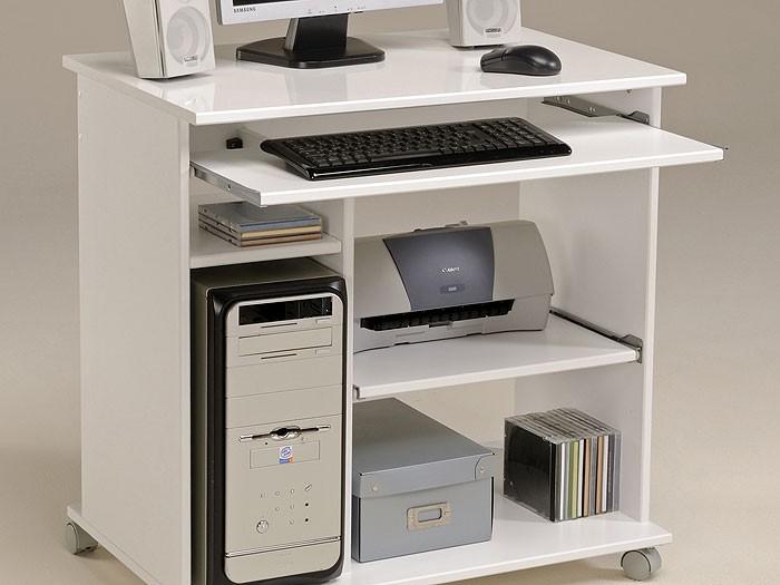 computertisch weiss pepe 1 76x76x50cm pc tisch computerschrank schreibtisch ebay. Black Bedroom Furniture Sets. Home Design Ideas