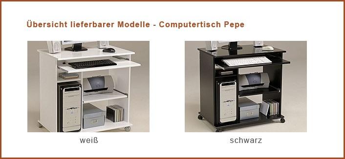 computertisch schwarz pepe 2 76x76x50cm pc tisch computerschrank schreibtisch ebay. Black Bedroom Furniture Sets. Home Design Ideas