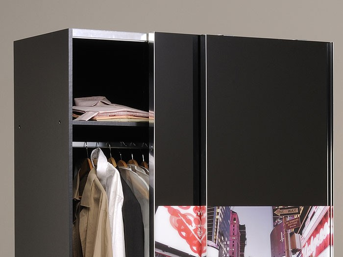 schwebet renschrank science 3 121x201x60cm schwarz kleiderschrank. Black Bedroom Furniture Sets. Home Design Ideas