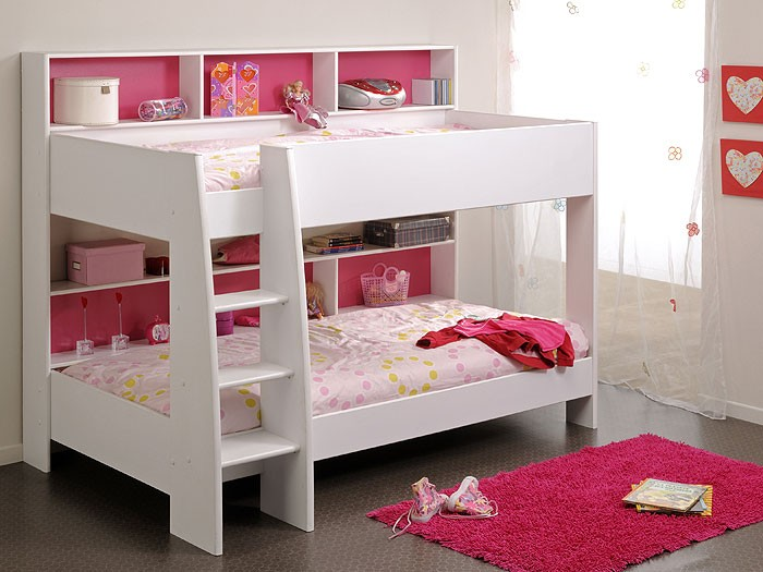 etagenbett tamina 1 wei 209x165x132cm blau pink bett hochbett wohnbereiche schlafzimmer betten. Black Bedroom Furniture Sets. Home Design Ideas