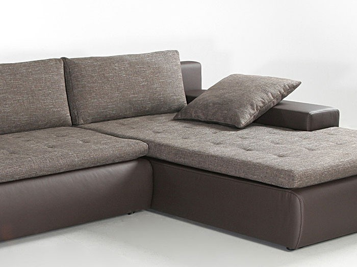 Polsterecke alisa 300x210cm braun webstoff couch sofa - Braunes ecksofa ...