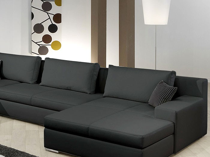 wohnlandschaft hiromi 378x240 170cm schwarz couch sofa ecksofa polsterecke ebay. Black Bedroom Furniture Sets. Home Design Ideas