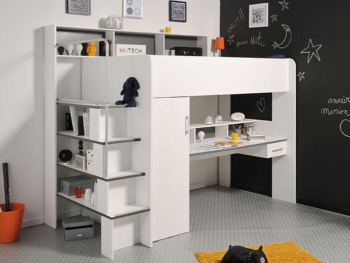 etagenbett wei hochbett 245x201x122cm schreibtisch. Black Bedroom Furniture Sets. Home Design Ideas