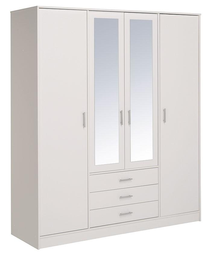 kleiderschrank weiss prime 5 4 t rig 176x202x55cm schlafzimmerschrank schrank ebay. Black Bedroom Furniture Sets. Home Design Ideas