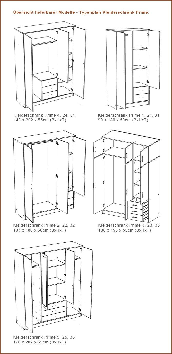 Trysil Ikea Erfahrungsbericht ~ Kleiderschrank, Drehtürenschrank Prime 2, 133x180x50cm, 3 türig