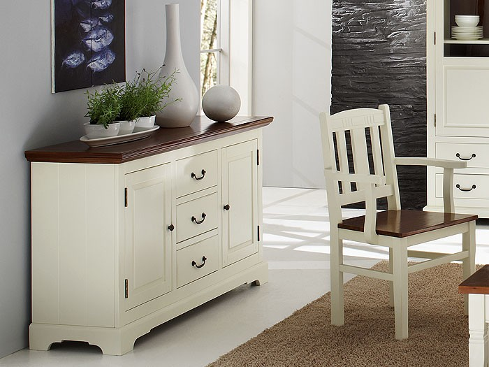 sideboard arezzo 153x45x85cm akazie antikwei kommode anrichte vitrine schrank ebay. Black Bedroom Furniture Sets. Home Design Ideas