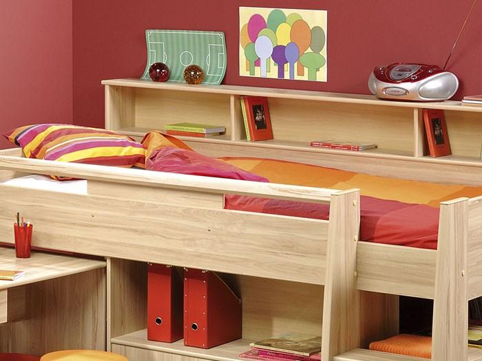 kinderzimmer kosta 1 kernbuche nb hochbett schreibtisch kinderbett ebay. Black Bedroom Furniture Sets. Home Design Ideas