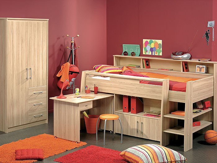kinderzimmer kosta 2 kernbuche nb hochbett. Black Bedroom Furniture Sets. Home Design Ideas