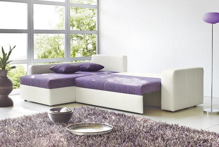 Lila wei couch interessante ideen f r die for Wohnlandschaft lila