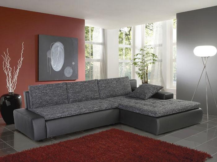 ecksofa alisa 300x210cm webstoff schwarz grau