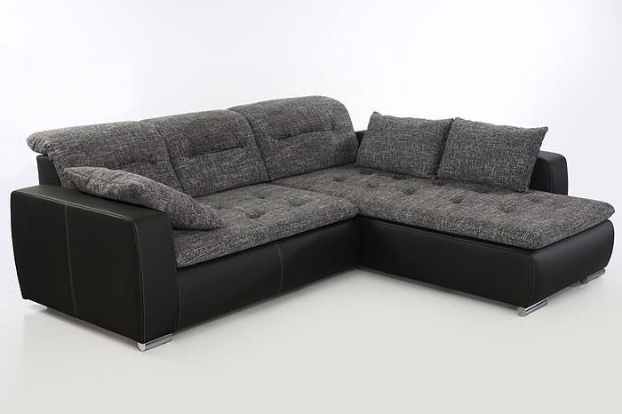 sofa couch corey 273x200cm anthrazit schwarz polsterecke ecksofa wohnlandschaft ebay. Black Bedroom Furniture Sets. Home Design Ideas
