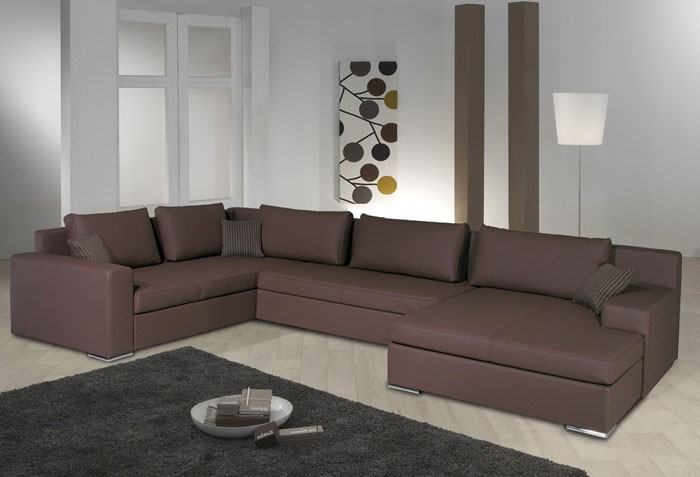 wohnlandschaft hiromi 378x240 170cm braun couch sofa ecksofa polsterecke ebay. Black Bedroom Furniture Sets. Home Design Ideas
