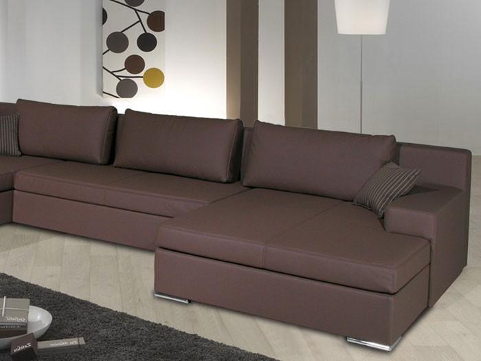 wohnlandschaft braun kunstleder. Black Bedroom Furniture Sets. Home Design Ideas
