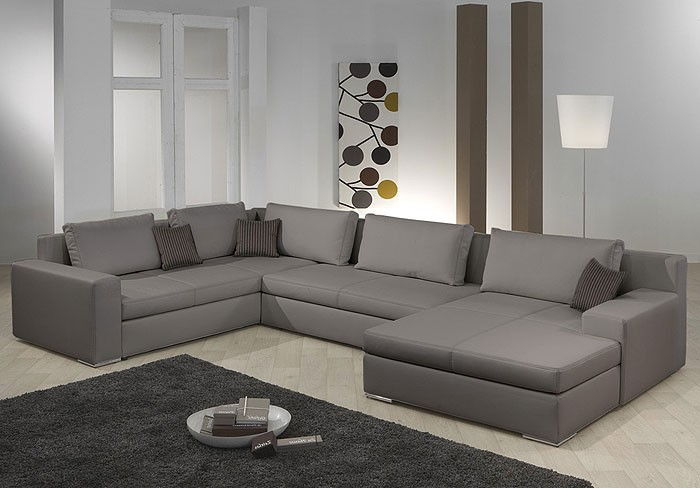 wohnlandschaft hiromi 378x240 170cm schlammbraun couch sofa ecksofa polsterecke ebay. Black Bedroom Furniture Sets. Home Design Ideas