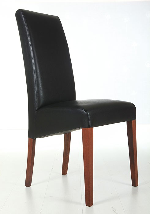 polsterstuhl robin buche nussbaum elektra schwarz kunstleder stuhl st hle ebay. Black Bedroom Furniture Sets. Home Design Ideas