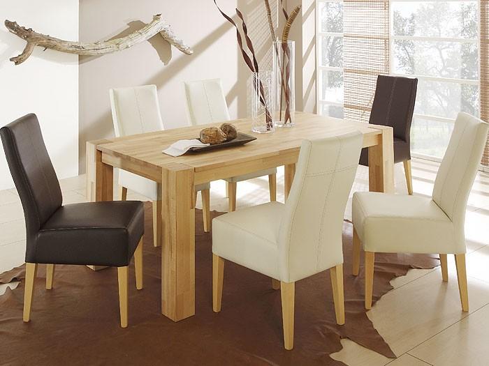 polsterstuhl tom buche natur elektra grau stuhl st hle kunstleder ebay. Black Bedroom Furniture Sets. Home Design Ideas