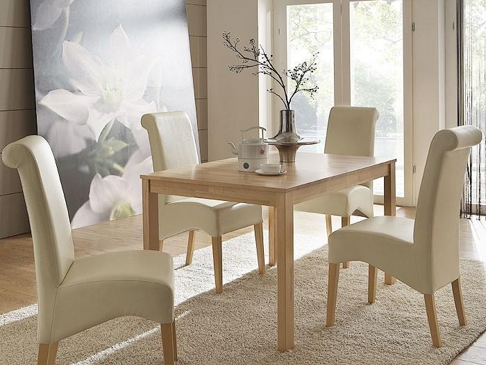 Esstisch emilian 125x80x75cm buche lackiert tisch for Wohnzimmertisch esstisch