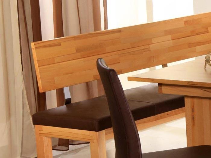 eckbank luca big l kernbuche lackiert elektra dunkelbraun sitzbank holzbank ebay. Black Bedroom Furniture Sets. Home Design Ideas