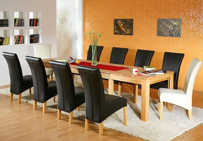 esstisch 160 310cm kernbuche lackiert ausziehbar holz tisch massiv allround xl ebay. Black Bedroom Furniture Sets. Home Design Ideas