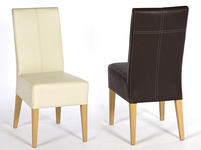 Polsterstuhl tom buche nussbaum elektra beige stuhl for Lederstuhl beige