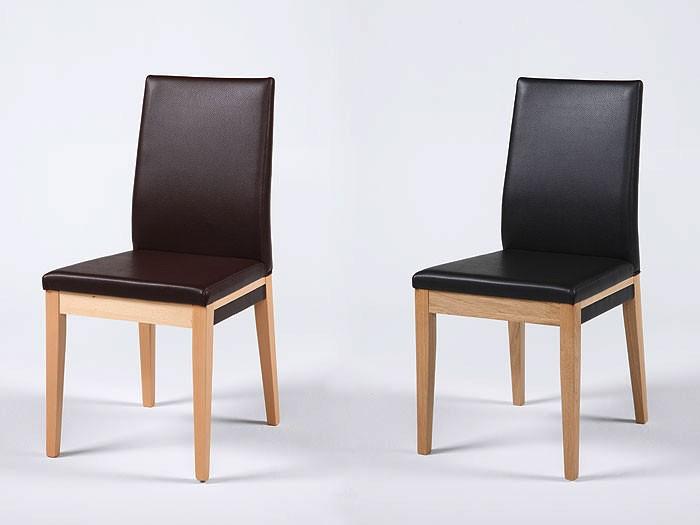 polsterstuhl santorin eiche natur elektra dunkelbraun. Black Bedroom Furniture Sets. Home Design Ideas