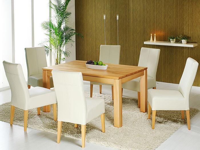 esstisch tobiah xl 140 220x90 kernbuche lackiert ausziehbar tisch vorkopfauszug ebay. Black Bedroom Furniture Sets. Home Design Ideas