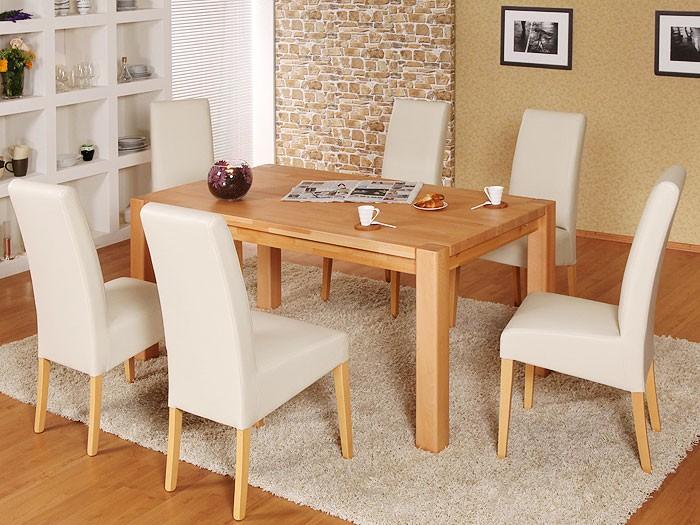 Esstisch tim 160x90x75cm buche lackiert massivholztisch for Wohnzimmertisch esstisch