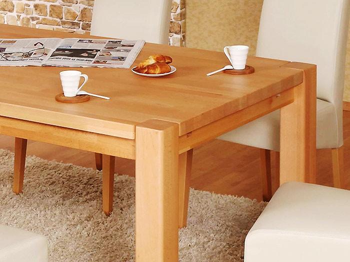 esstisch tim 160x90x75cm buche lackiert massivholztisch. Black Bedroom Furniture Sets. Home Design Ideas