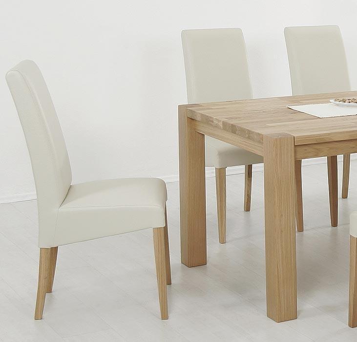 polsterstuhl robin eiche natur elektra beige kunstleder. Black Bedroom Furniture Sets. Home Design Ideas
